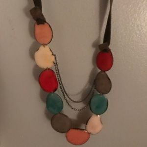 Anthropologie stone necklace long